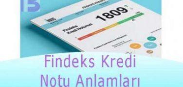 Findeks Kredi Notu Anlamları