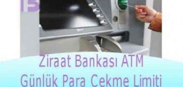 Ziraat Bankası ATM Günlük Para Çekme Limiti