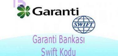 Garanti Bankası Swift Kodu   BIC Kodu