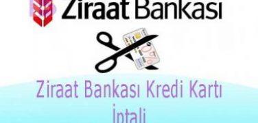 Ziraat Bankası Kredi Kartı İptali Nasıl Yapılır?