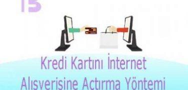 Kredi Kartını İnternet Alışverişine Açtırma Yöntemi