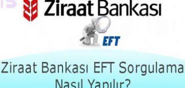 Ziraat Bankası EFT Sorgulama Nasıl Yapılır?