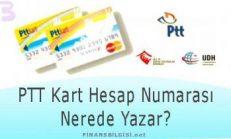 PTT Kart Hesap Numarası Nerede Yazar?