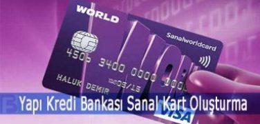 Yapı Kredi Bankası Sanal Kart Oluşturma