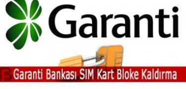 Garanti Bankası SIM Kart Bloke Kaldırma