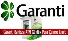 Garanti Bankası ATM Günlük Para Çekme Limiti