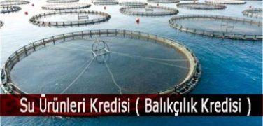 Su Ürünleri Kredisi ( Balıkçılık Kredisi )