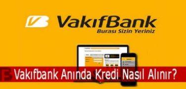 Vakıfbank Anında Kredi Nasıl Alınır?